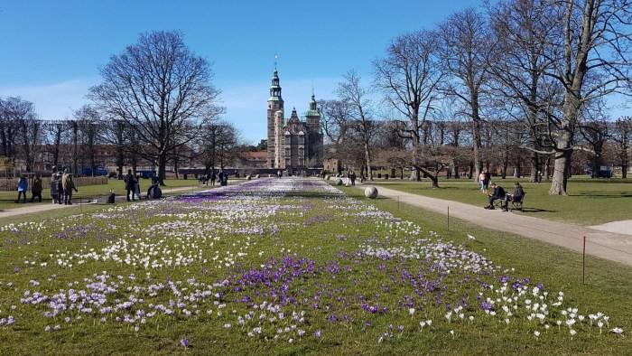 Rosenborg, Spring in the king's gardens