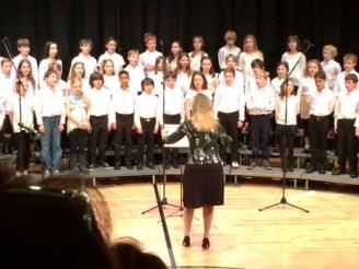 Carolyn conducting at the Berkeley Carroll Winter Concert