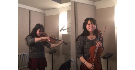 Sophia Sun, violist. She recorded all the viola sound files for My First Symphony