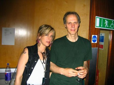 Carolyn with Tom Verlaine (of Television & Patti Smith) in London