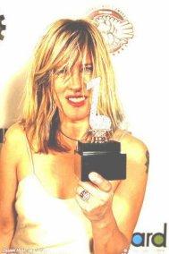 Carolyn with Detroit Music Award 2010