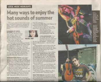 Carolyn - in the Detroit Free Press for Whitney Garden Party by Rachel May