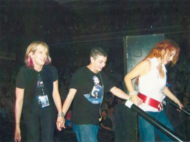 Carolyn Striho, Sinead O'Connor, and Tori Amos on stage at Meltdown UK 2005
