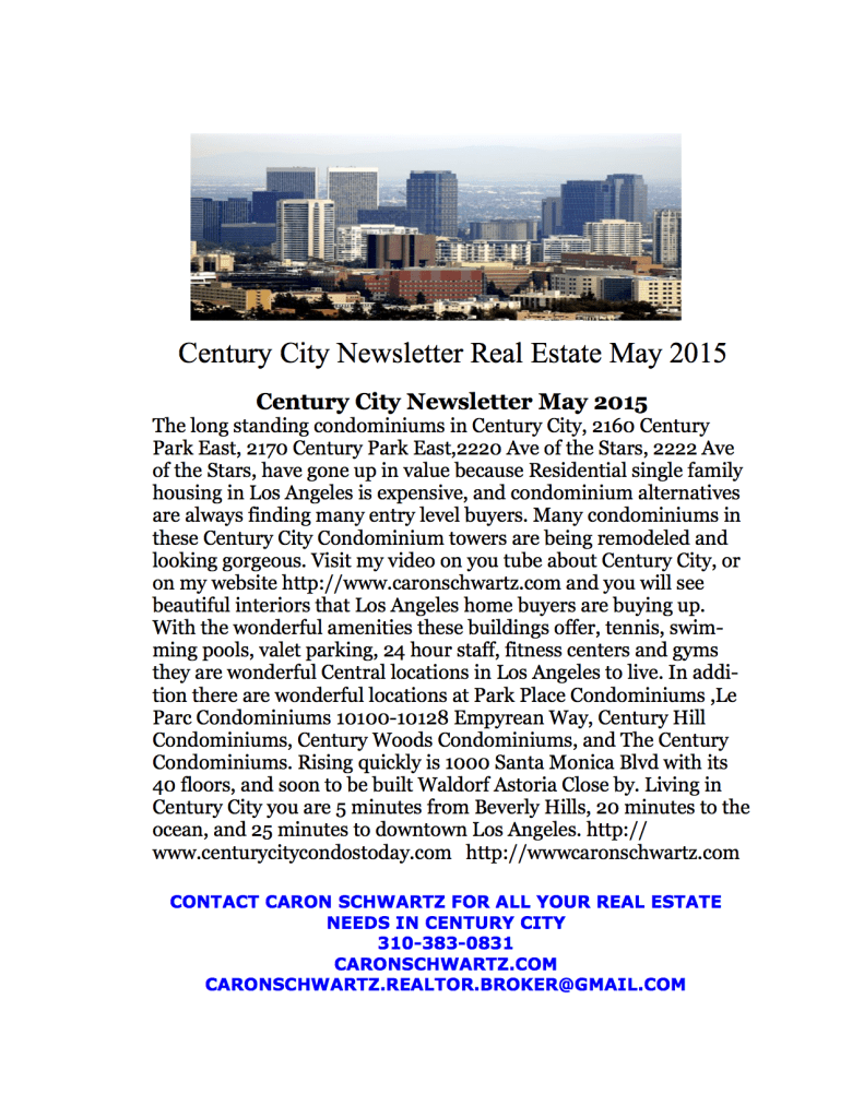 Century City Newsletter