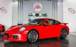 PORSCHE 911 CARRERA S 42,000KM RED INSIDE BEIGE   AED 250,000