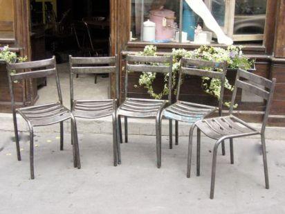 Chaises de Guinguette 1950