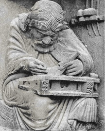 Pythagoras on Chartres Cathedral
