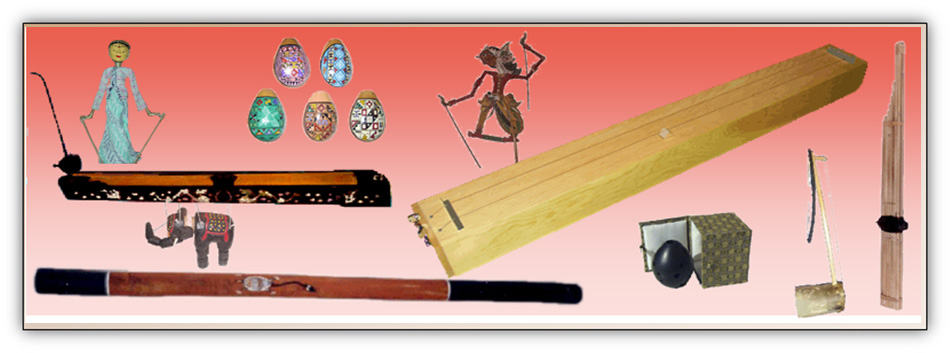 monochord, didgeridoo,puppets