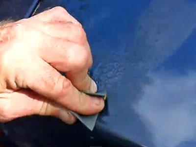 sanding clear coat