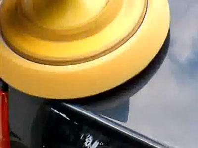 applying polishing compound