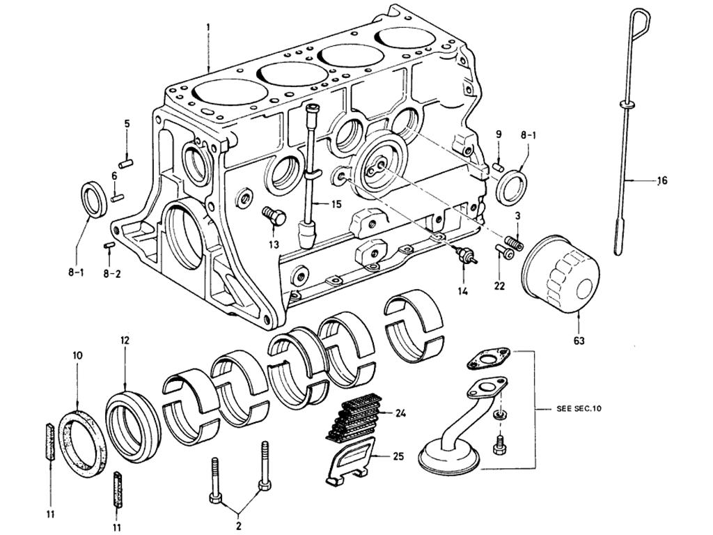 Datsun Bluebird 510 Cylinder Block