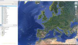 Les lacs avec Google Earth