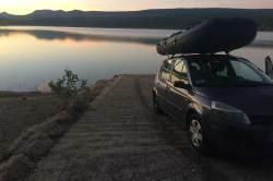 Mise-à-l'eau de Léran au lac de Montbel.