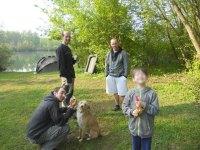 Les enfants devenus grands à la pêche