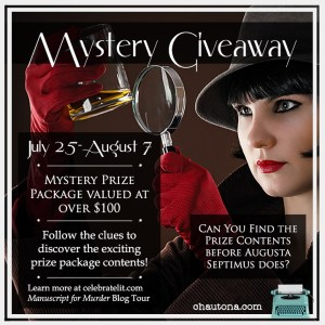 Special giveaway feature for Manuscript for Murder on tour with Celebrate Lit and featured on CarpeDiem.fyi