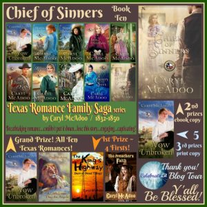 GiveAway featuring Chief of Sinners by Caryl McAdoo on tour with Celebrate Lit