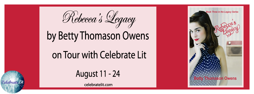 Rebecca's Legacy on tour with Celebrate Lit and featured on CarpeDiem.fyi