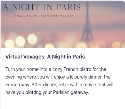 Virtual Voyages: A Night in Paris