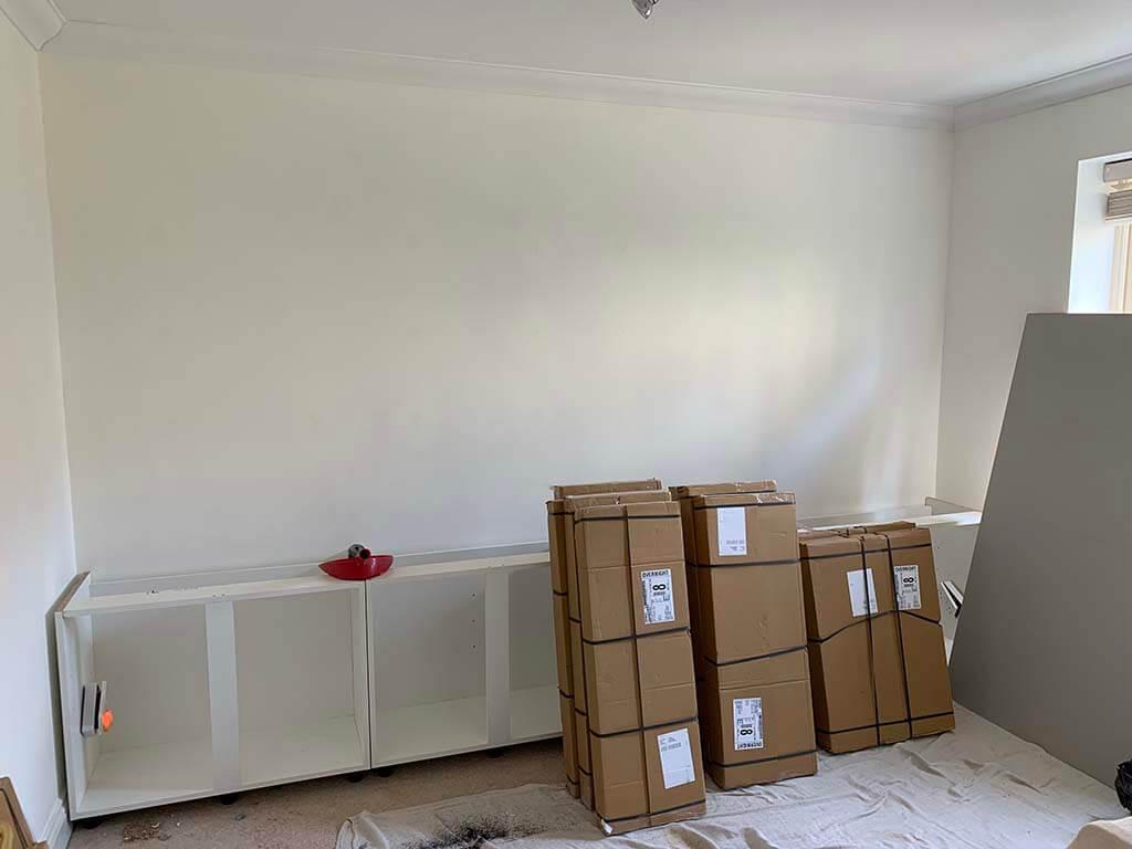 Bookcase Work underway Carpenter