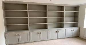 Dining Room Bookcase Finished
