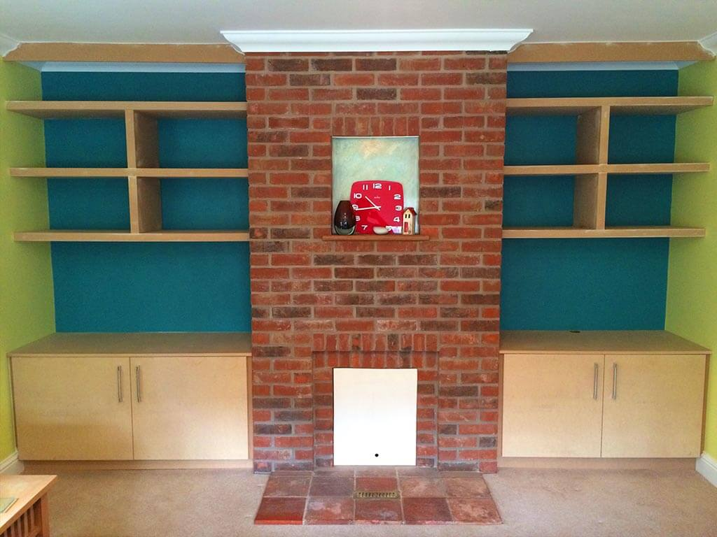 Hand Made MDF Alcove Storage Units Norwich Carpenter