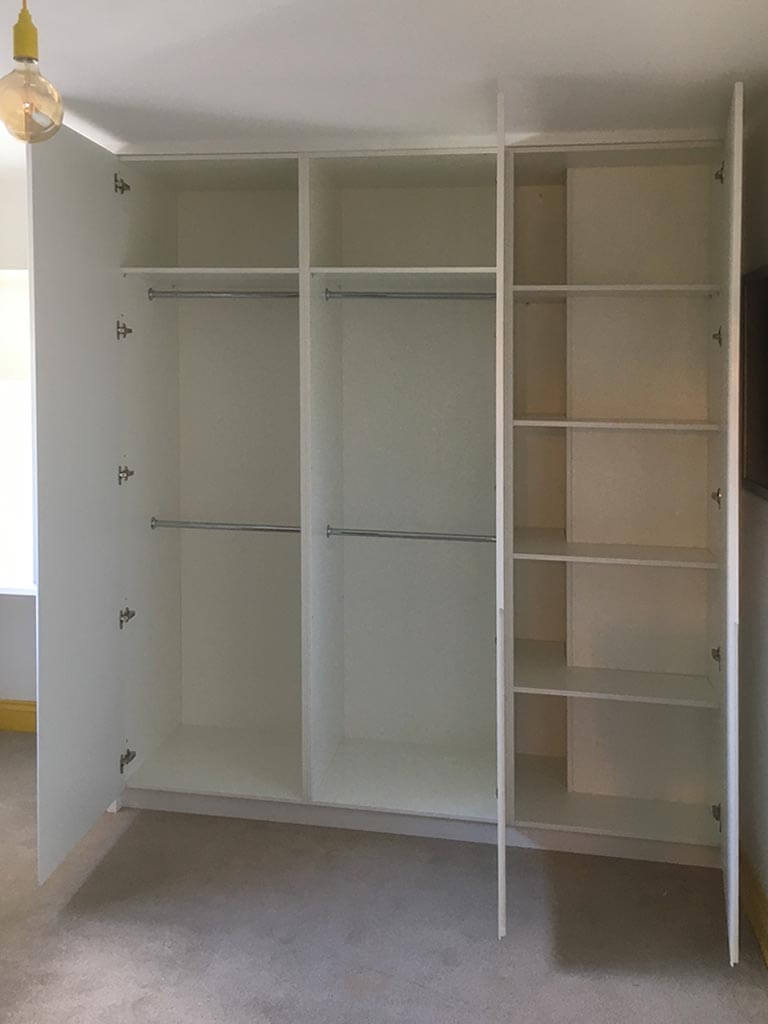 Integra matt white wardrobe internals