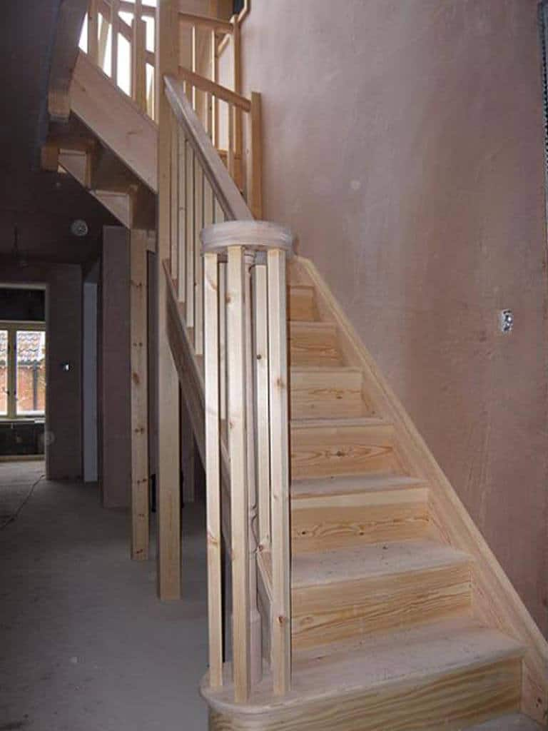 New Build Wooden Stair Carpenter Norwich
