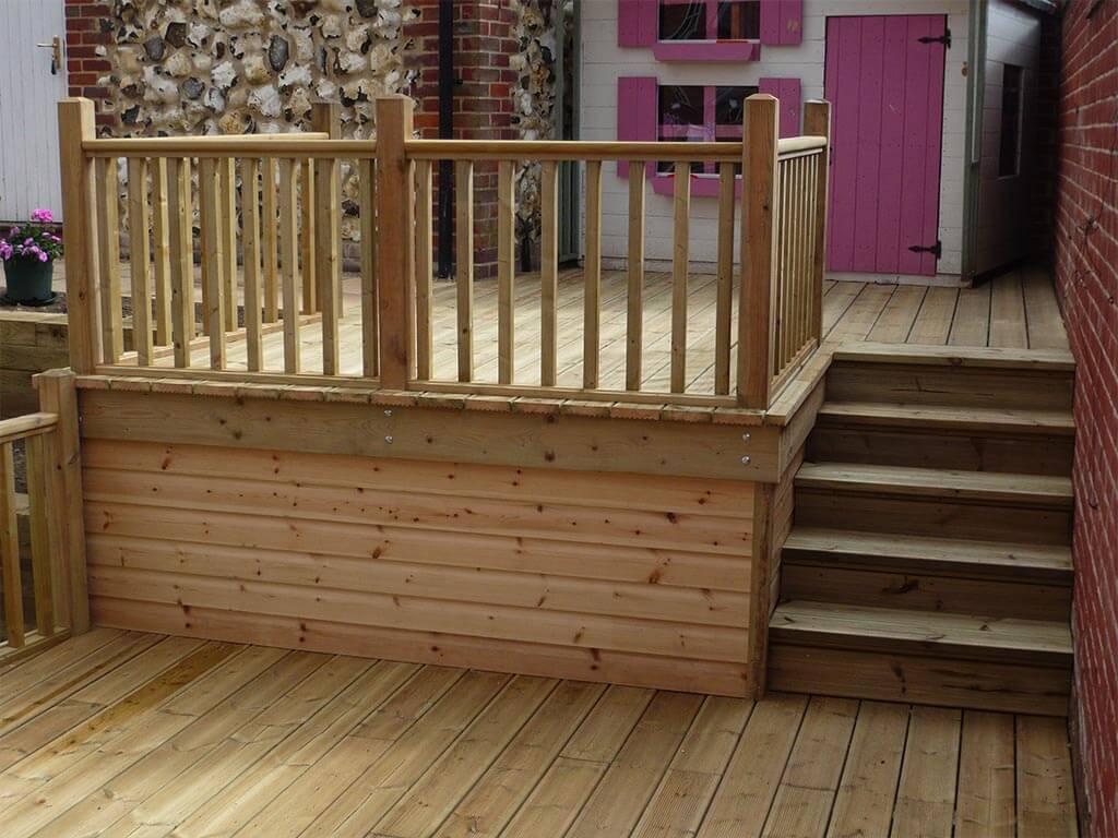Norwich Carpenter Garden Raised Deck and Steps