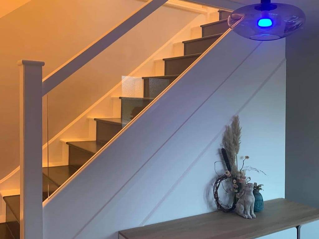 Painted & glazed stairs