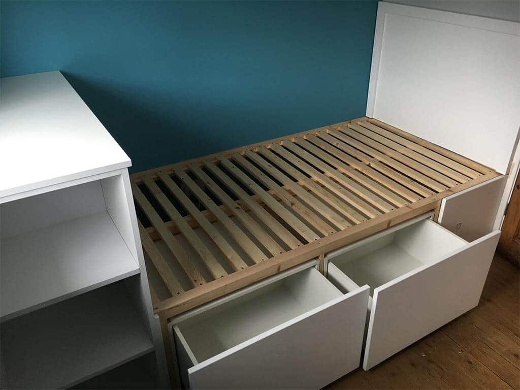 Purpose Built bed with under storage Norwich Carpenter