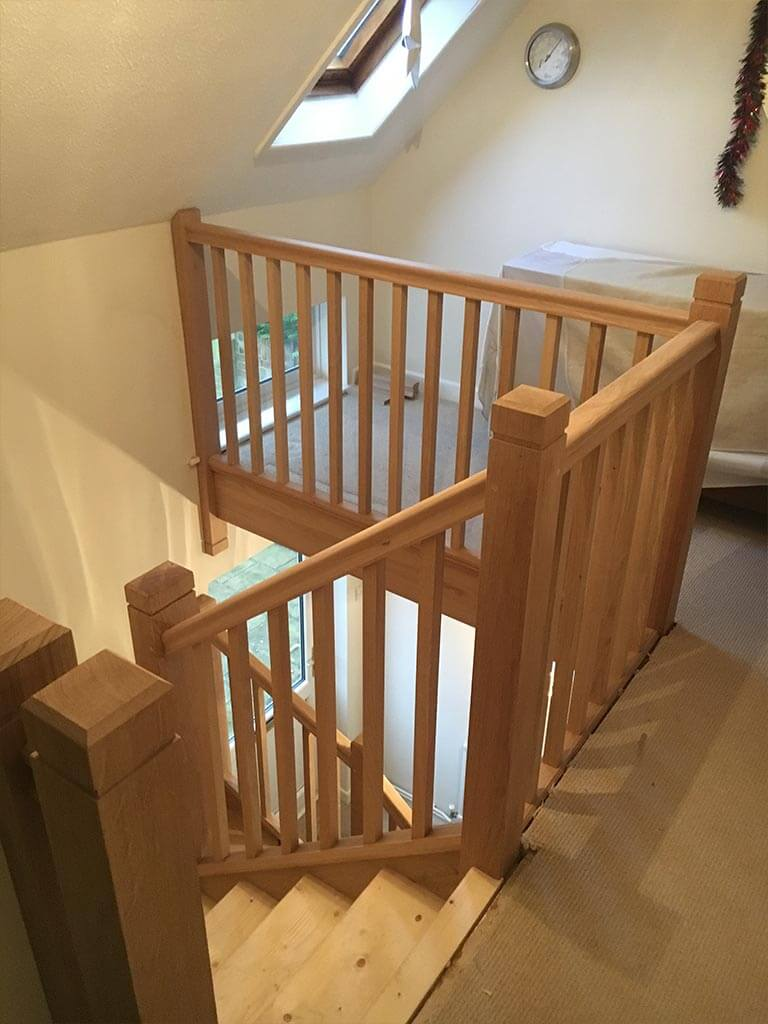 Solid Oak Stairs and Banister Carpenter Norwich