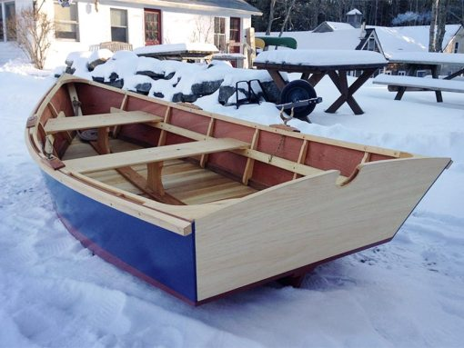 monhegan skiff - side rear view