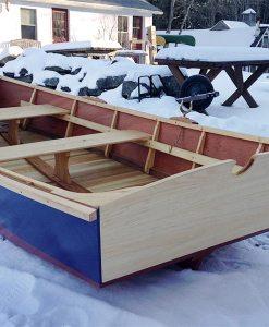 monhegan skiff - side rear view