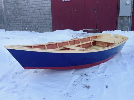 monhegan skiff - side view