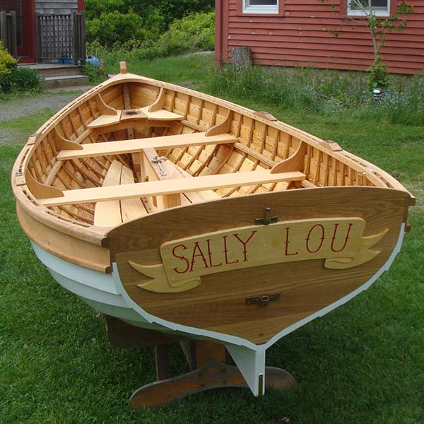 finished boat, the Sally Lou
