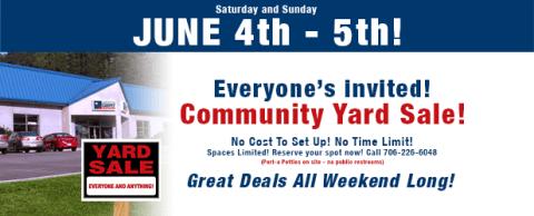 2016 Community Yard Sale!