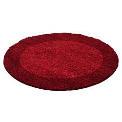 tapis shaggy de salon a poils longs a poils longs 2 couleurs rouge et bordeaux