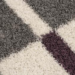 tapis de salon a poils longs a poils longs hauteur 3 cm gris blanc violet