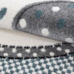 tapis de chambre d enfant a motifs bleu elephant