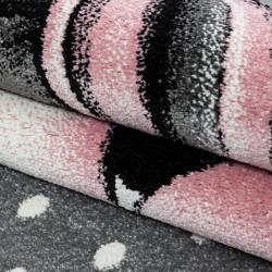 tapis de chambre d enfant avec motifs roses licorne