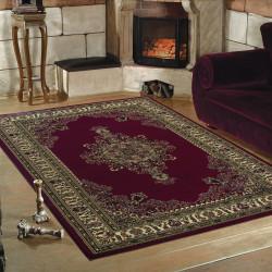 tapis de salon oriental classique marrakech rouge