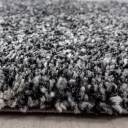 tapis shaggy de salon haute qualite poil long poil profond gris blanc chine