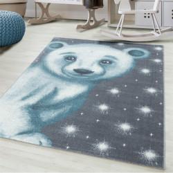 enfant motif 3d ours polaire bleu