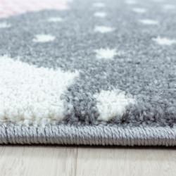 tapis pour enfants tapis de chambre d enfants motif nuages rose gris blanc