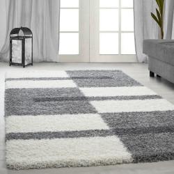 tapis velours shaggy hauteur 3cm gris