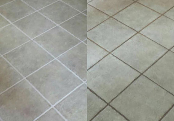 tile grout cleaning countertops