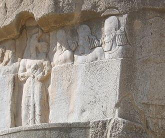 Prehistoric remains near Persepolis, Iran.