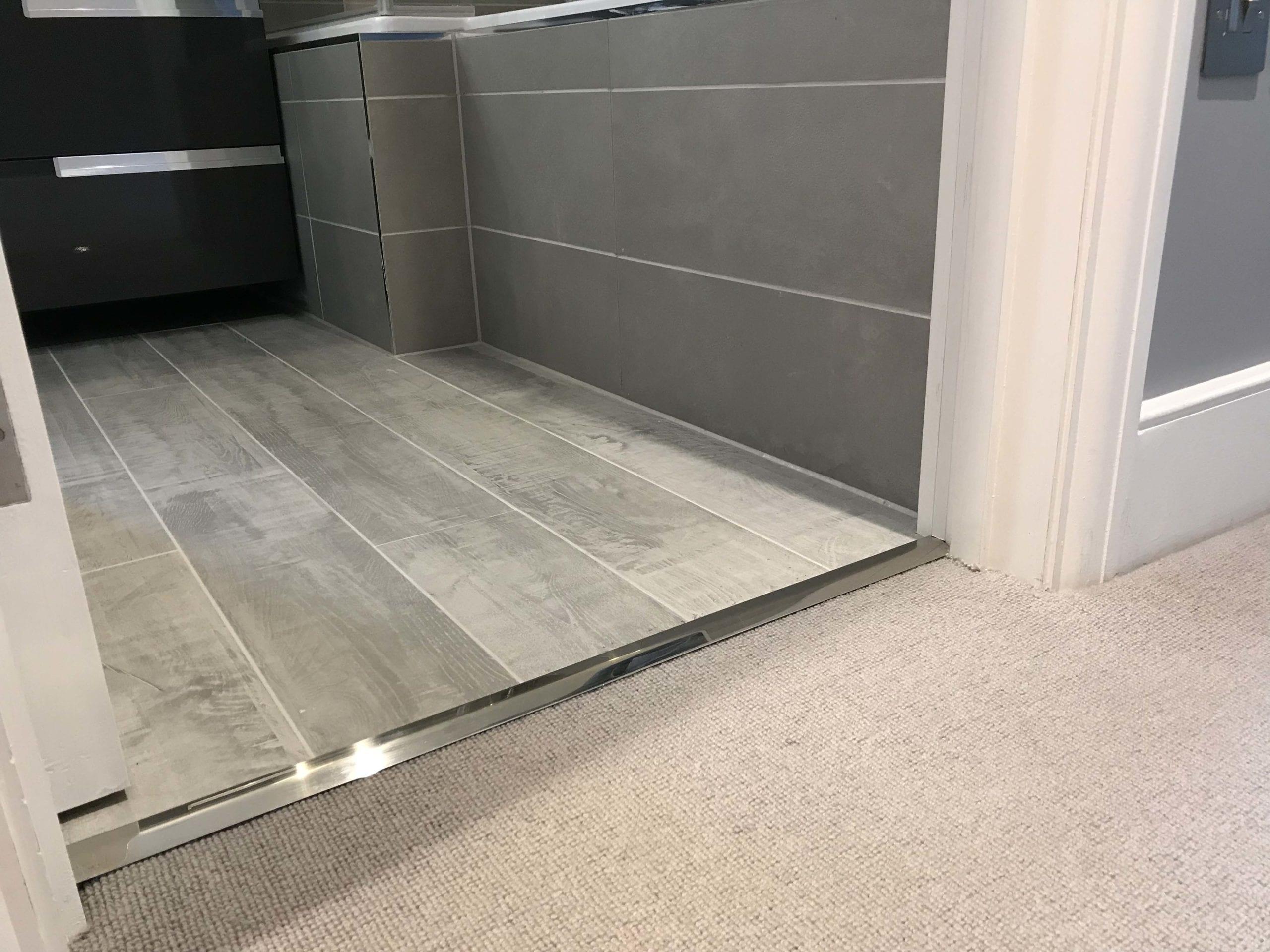 carpet to tile trim fittings door