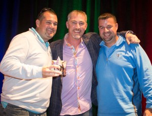 Jim Brown and John Brown, CarpetsPlus COLORTILE in Bloomington, IL, win the Star of the Summit Award