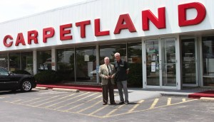 Ron with Duke Karns at Carpetland, Lafayette, IN